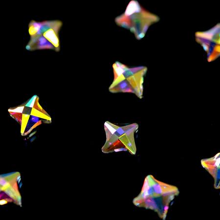 Купить Стразы фигурные Спиннер супер-голография 3x4, 5 мм, Patrisa-nail