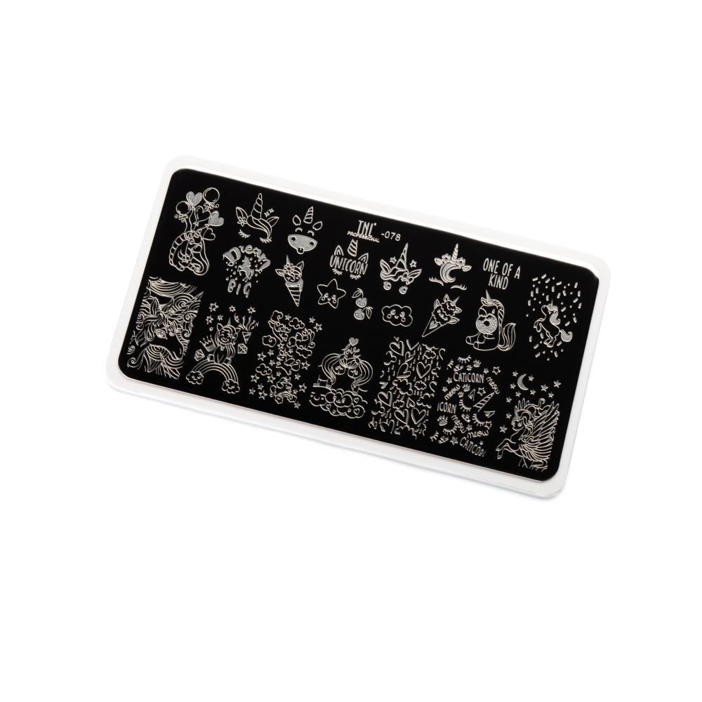 Купить Пластина для стемпинга TNL Premium - сказочный единорог (078)