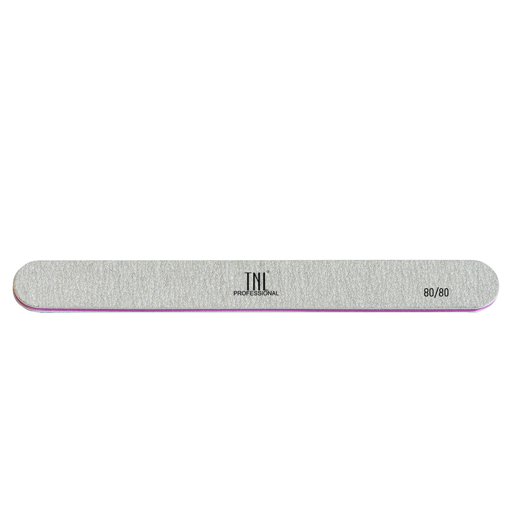 Купить Пилка для ногтей узкая 80/80 хит (серая) в индивидуальной упаковке, TNL