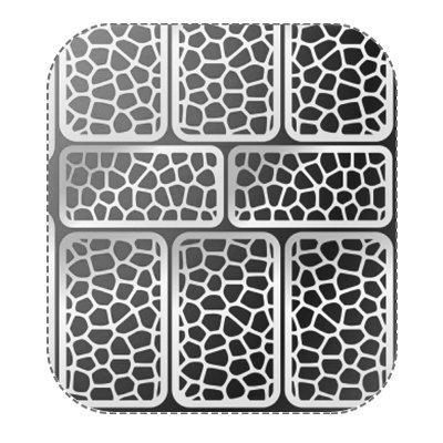 Купить Трафареты серебрянные irisk для дизайна и аэрографии ногтей (079), IRISK PROFESSIONAL