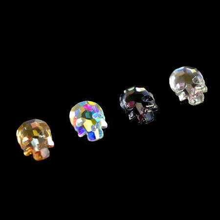 Купить Стразы фигурные Череп МИКС 4 цвета 6x8 мм, Patrisa-nail