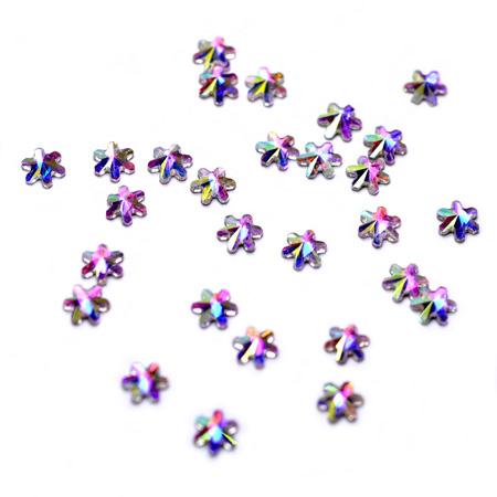 Купить Стразы фигурные Снежинка супер-голография 4 мм, Patrisa-nail