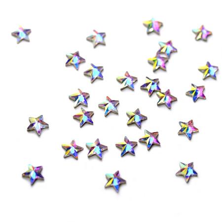 Купить Стразы фигурные Звездочка супер-голография 4 мм, Patrisa-nail