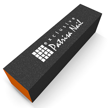 Шлифовочный блок трехсторонний серо-оранжевый 100/180/240 Patrisa-nail